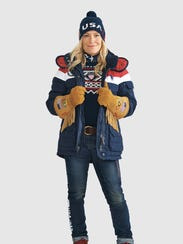 Women's Opening Ceremony uniform for Pyeongchang 2018 Winter Olympics in Korea, by Ralph Lauren.