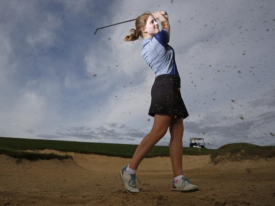 The 2015 All-Big Bend Player of the Year for girls golf is John Paul II senior Teresa Conroy. This is the third consecutive year she has won the award.