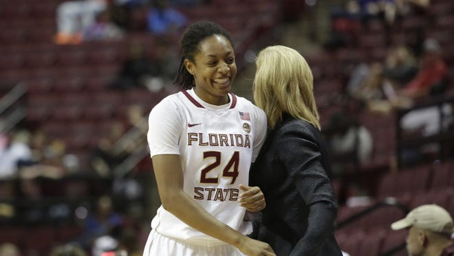 Freshman guard Nicole Ekhomu got plenty of court time at Florida Sate women's basketball game against Western Carolina.