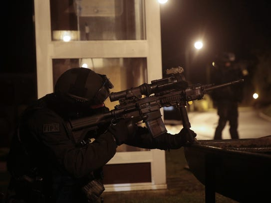 A member of the French police intervention force (FIPN)
