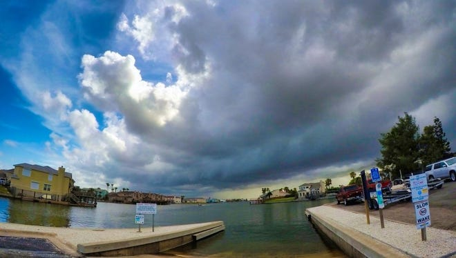 Catching a small storm rolling through the area. #corpuschristi #vivacc #seecc #beach #fishing #storm #stormchaser