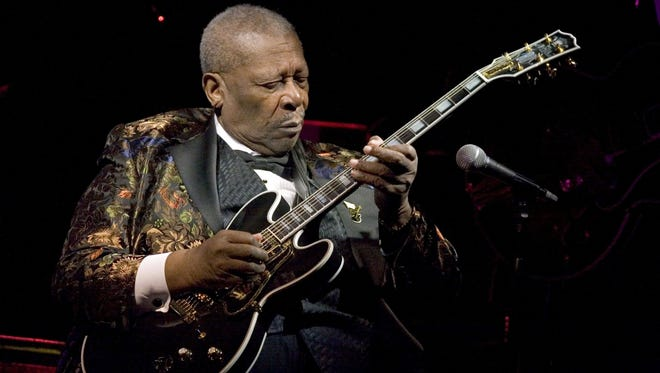 Blues Legend B.B. King performs his 10,000th concert at B.B. KIng Blues Club & Grill in Times Square on April 18, 2006 in New York City.