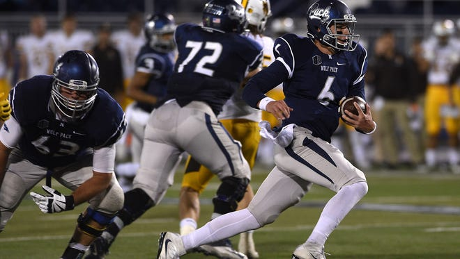 Nevada's Ty Gangi had an explosive debut against Wyoming.
