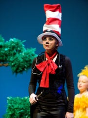 "Abigail Rose Nakken played the Cat in the Hat during a Utah Shakespeare Festivals Playmakers production of ""Seussical."""