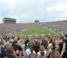 A look from Bright House Networks Stadium during the 2013 football season. With six new coaches hired this past year, UCF has high expectations for this new era of athletics.