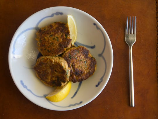 Tuna cakes with parsley and lemon at Robin Miller's