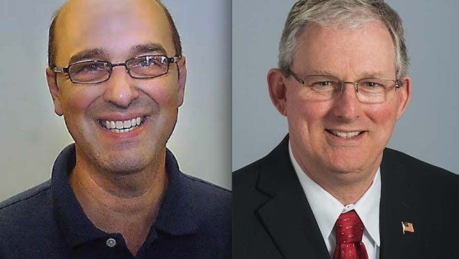 Incumbent Gary Childs (left) and challenger John Conely are squaring off in the GOP District 9 county commission primary.