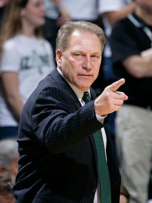 Michigan State coach Tom Izzo.