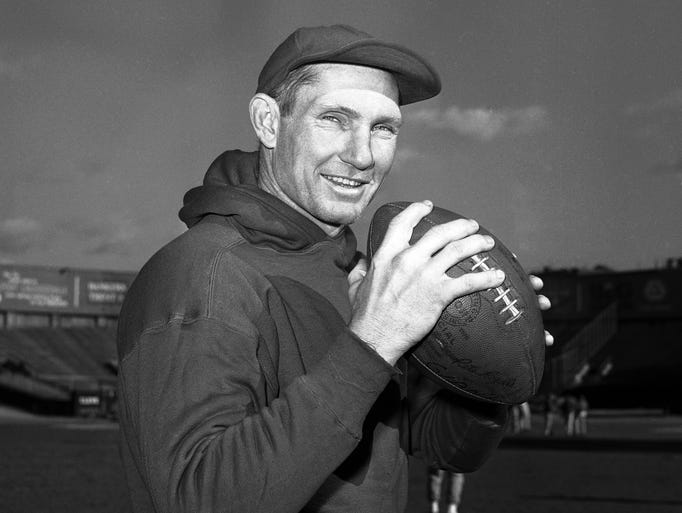 Y.A. Tittle, the Hall of Fame quarterback and 1963