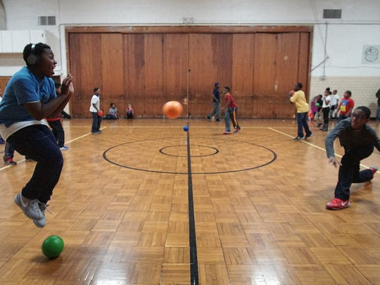 Dodgeball is one of the after-school activities students enjoy at the Friendly House.