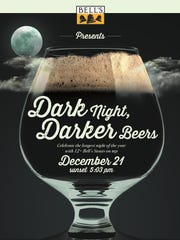 Bell's Brewery's Dark Night, Darker Beers event Dec. 21 at nine bars across Michigan promises rare and limited releases of stouts.