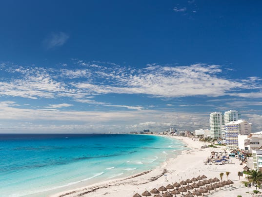 Cancun beach panorama view