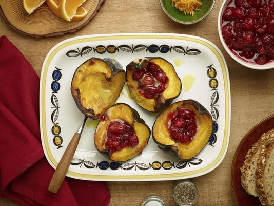Food Culinary Institute of America Baked Acorn Squash with Compo
