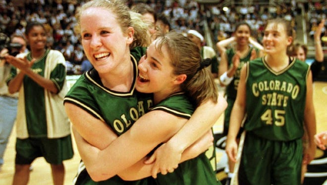 Colorado State University's Katie Cronin, left, and Becky Hammon were All-Americans on the 1998-99 team that went 33-3. The 2015-16 Rams can match that team for longest win streak in school history with a win Saturday.