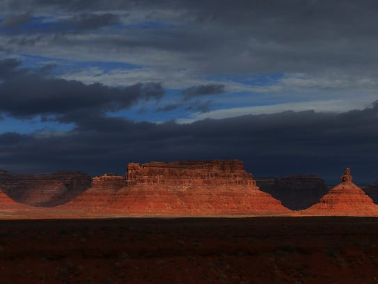 The Valley of the Gods is seen within the Bears Ears