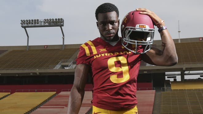 Iowa State wide receiver Quenton Bundrage, seen here before the 2014 season, continued his recovery from a torn ACL by participating in Saturday's spring game.