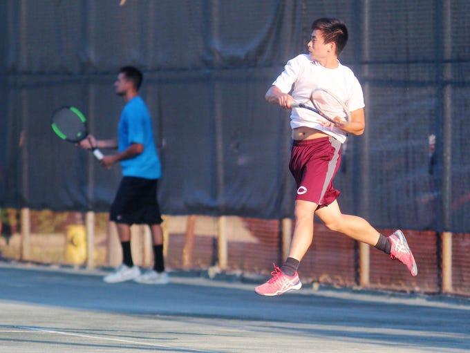 Wyatt Lippert, left, and Luke Tsai won their semifinal
