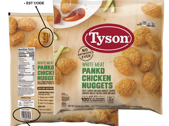 Tyson Foods is recalling more than 36,000 pounds of chicken nuggets because they may be contaminated with rubber.