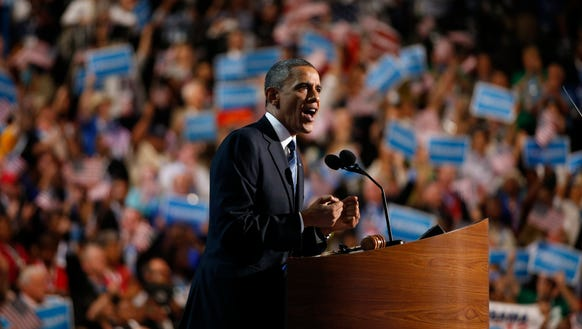 At the 2012 Democratic convention, President Obama