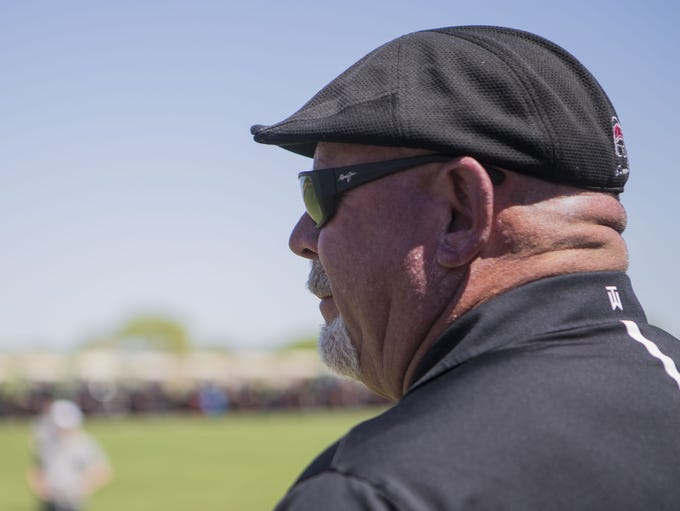 Former Arizona Cardinals head coach Bruce Arians looks