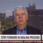 Gov. Rick Snyder on MSNBC discussed the Flint water crisis.