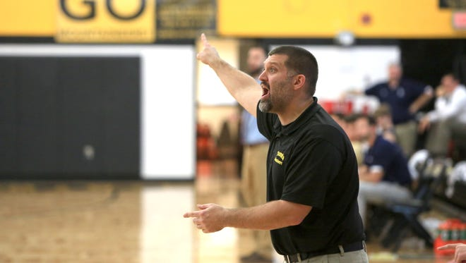 Tuscola boys basketball coach Nathan Messer.