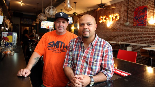 Brian O'Shea, left, and Miguel Torres, in their former Soyo Craft Bar in Yonkers