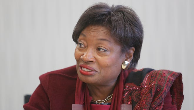 New York State Senator Andrea Stewart-Cousins meets with The Journal News editorial board on Dec. 13, 2016.