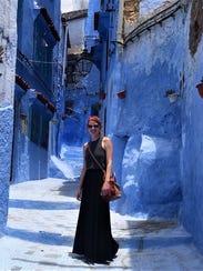 A worldwide traveler, Williamson explored Chefchaouen,