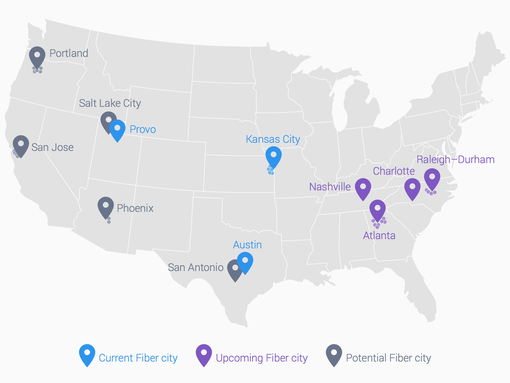 Google Fiber Coming To Southeastern USA