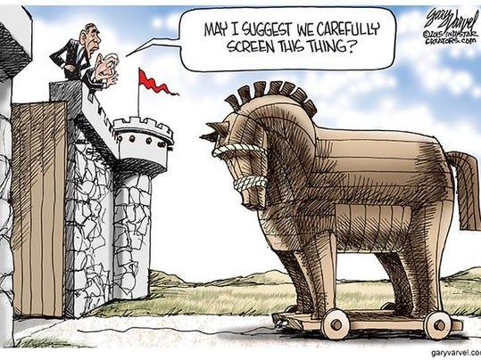 Cartoonist Gary Varvel The Trojan Horse