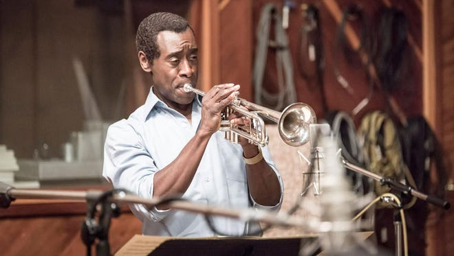 "Don Cheadle plays trumpeter Mile Davis in the biopic ""Miles Ahead."""