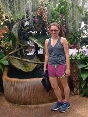 Columnist Jenna Intersimone at the Duke Farms orchid range.