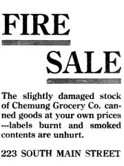 The new tenants of the Miller property had a fire sale,