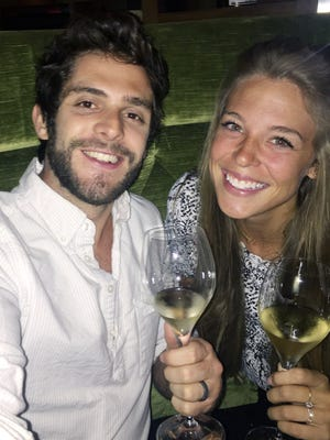 Country singer Thomas Rhett and his wife, Lauren, celebrated their third wedding anniversary in October.