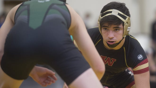 Windsor wrestler Dominick Serrano, shown during high school season, won a FloNationals title this weekend.