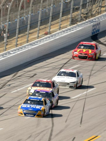 Every wall around the 2.66-mile Talladega Superspeedway,