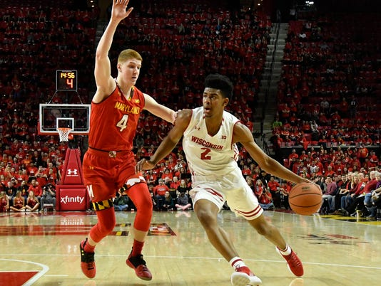 NCAA Basketball: Wisconsin at Maryland