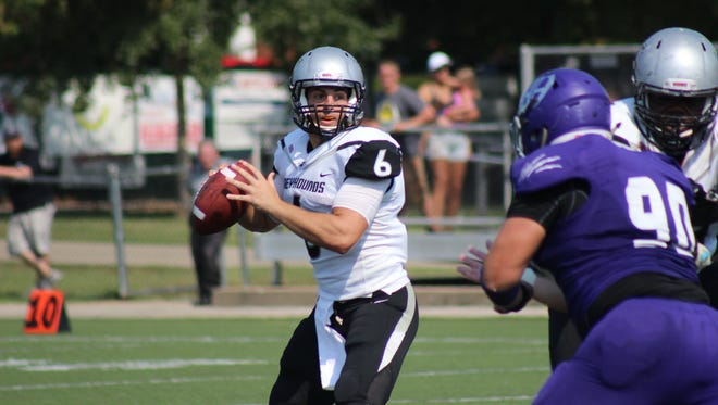 Former Cardinal Ritter standout and 2013 Indiana Mr. Football runner-up Jake Purichia will again lead the Greyhounds at quarterback.