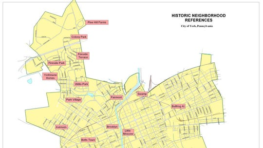 This York map, submitted by Greg Halpin, shows neighborhood
