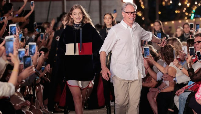 Model Gigi Hadid has only nice things to say about her collaborator, designer Tommy Hilfiger.