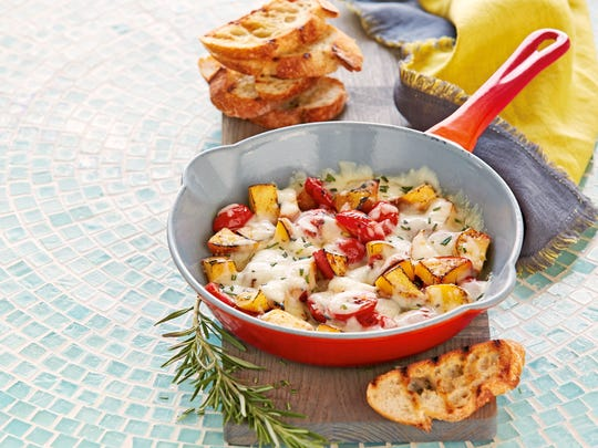 Grilled Tomatoes & Peaches with Fontina