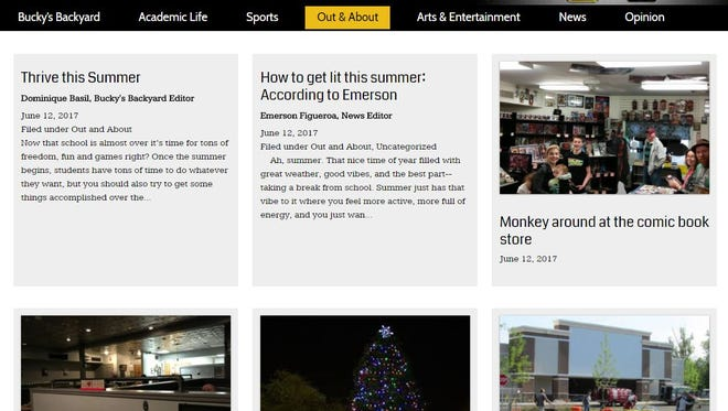 A screen capture of The Highland Echo website for the West Milford High School newspaper taken on June 23, 2017.