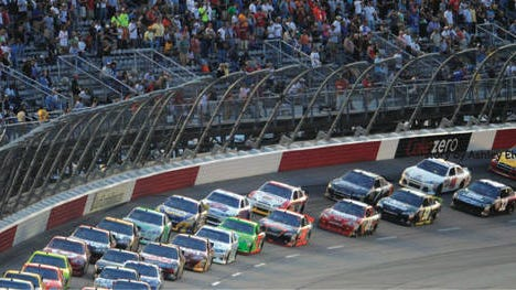 """Darlington Speedway in South Carolina is nicknamed """"The Lady in Black"""" and """"The Track Too Tough to Tame."""""""