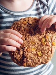 """This monster oatmeal cookie is found in """"Against the Grain: Extraordinary Gluten-Free Recipes Made from Real, All-Natural Ingredients,"""" written by Nancy Cain."""