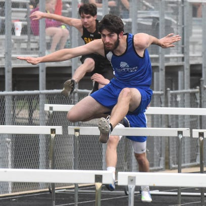 Callie Ray of Valley Springs competes in the high jump during the recent Bomber Relays at Mountain Home. Ray scored the second most points at the 3A-1 East District meet on Thursday night at Green Forest.