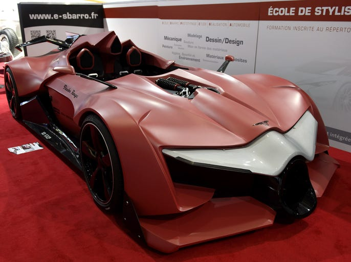 "This time of year, automakers unveil their new models for next year, as well as concept cars that may be for sale in the future.<br /> The new concept car <a href=""http://www.azcentral.com"">Sbarro Fleche Rouge</a>  is shown during the press day at the 84th Geneva International Motor Show in Geneva, Switzerland <b>March 5, 2014.</b>"