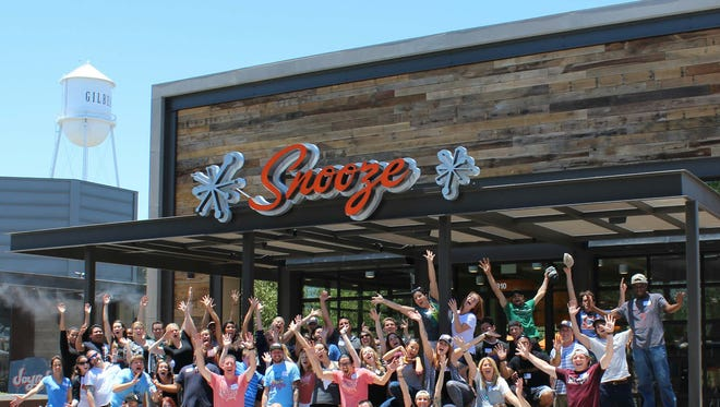 Snooze's third Arizona location opened in July in Gilbert's Heritage District.