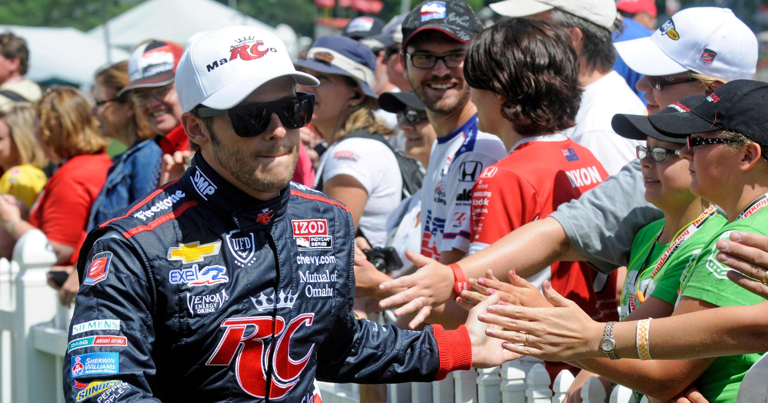 Marco Andretti still learning from grandfather Mario