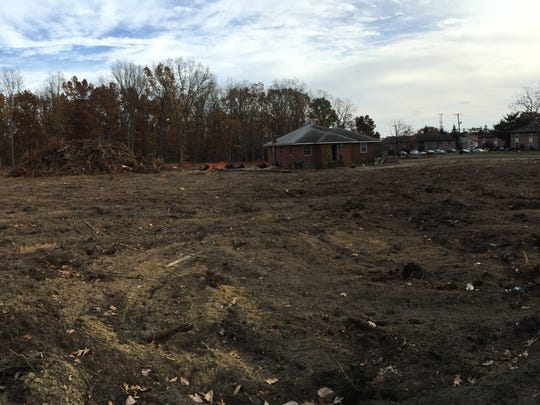 Trees have been cleared at the intersection of New Prospect and Brewers Bridge Road in Jackson for the construction of a QuickChek.